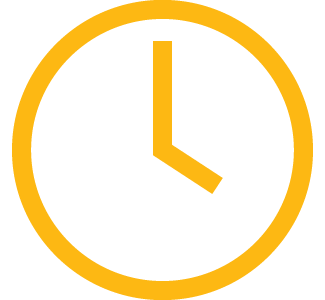 yellow analog clock icon
